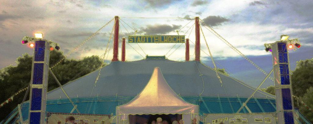 Zirkuszelt der Stadtteilwoche