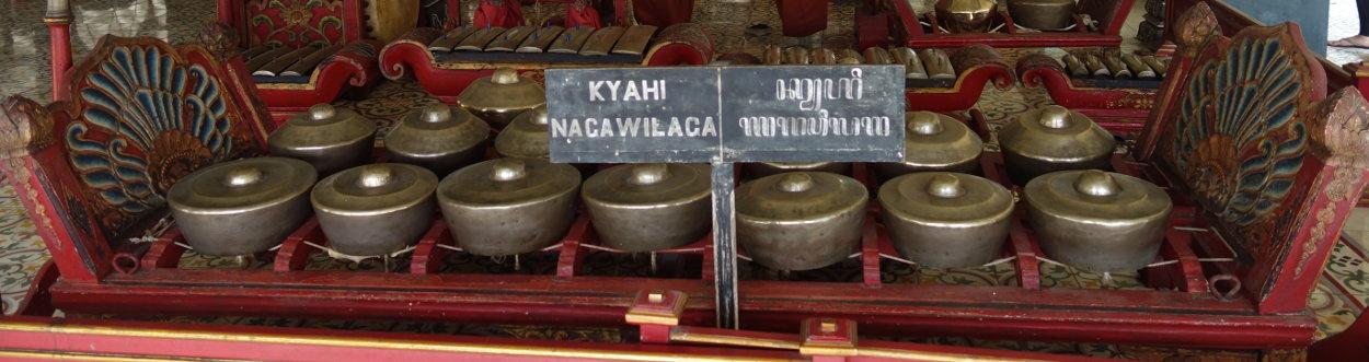 """Bonang des Gamelan """"Nagawilaga"""" im Kraton Yogyas"""